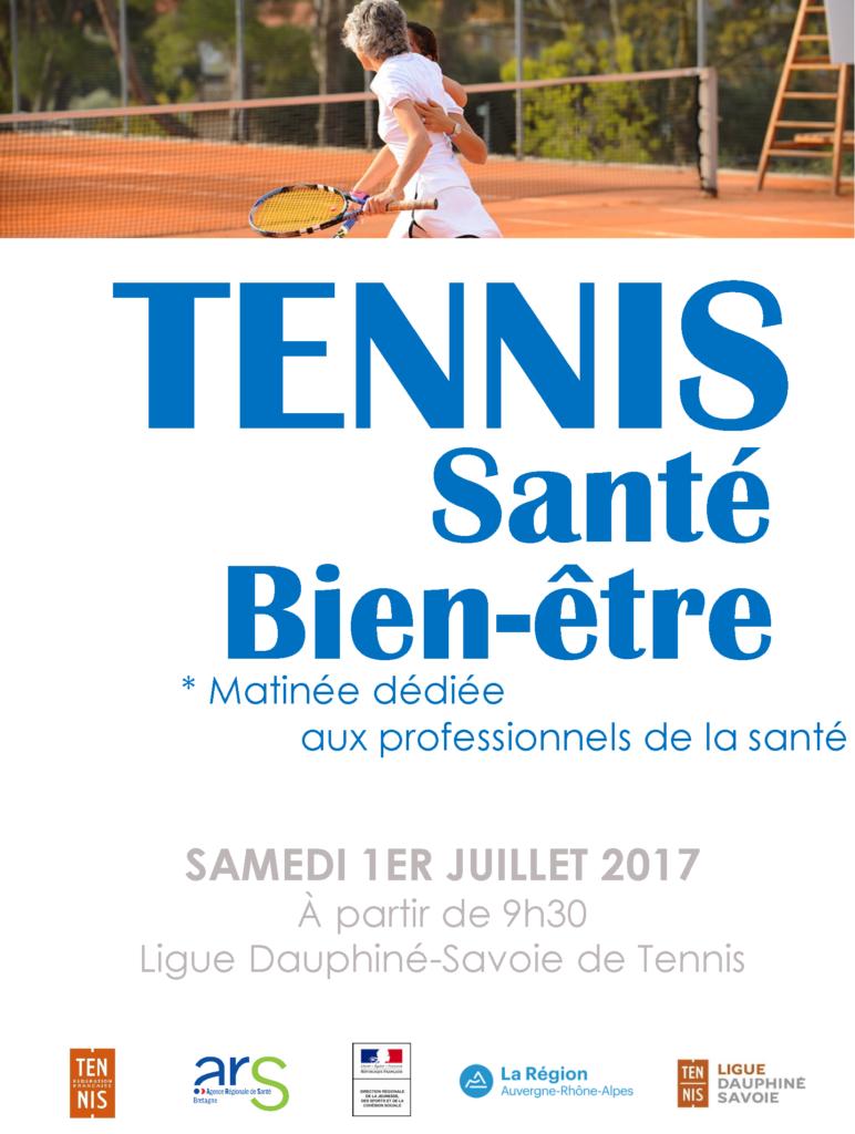 Tennis Santé Bien-Etre - Matinée dédiée aux professionnels de santé @ Ligue Dauphiné Savoie de Tennis