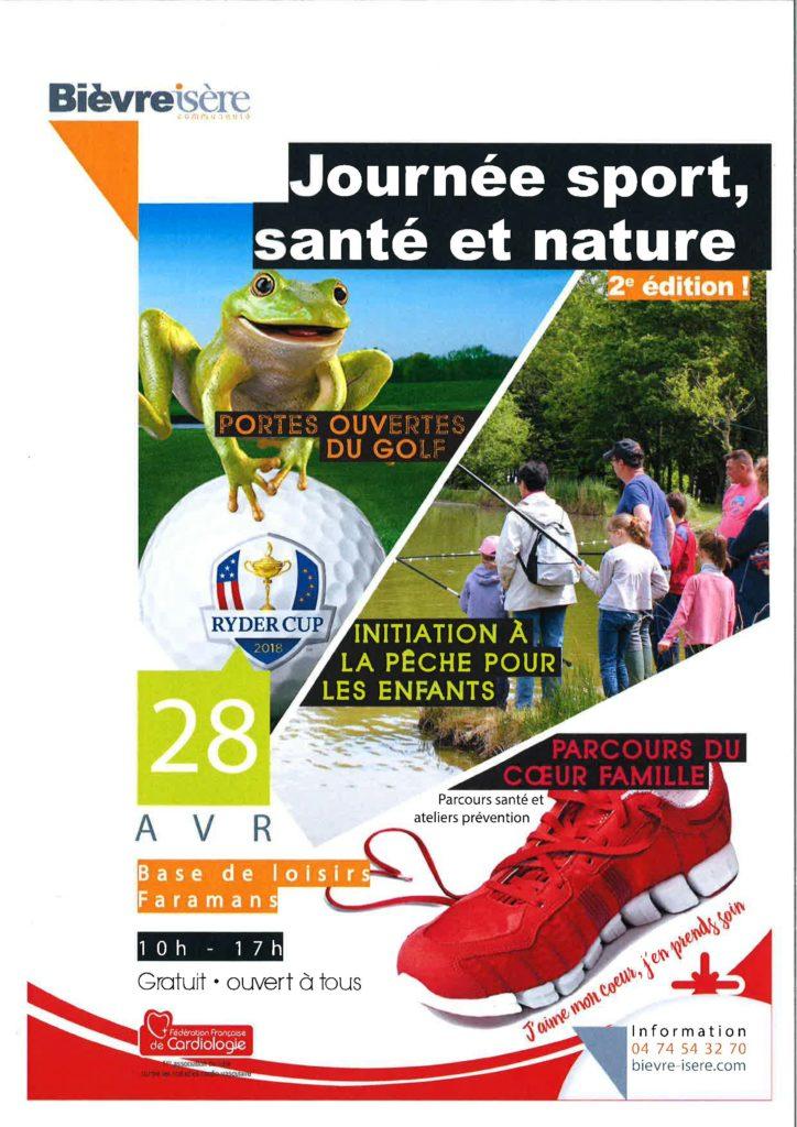 Journée sport, santé et nature - à Faramans @ Base de loisirs - Faramans