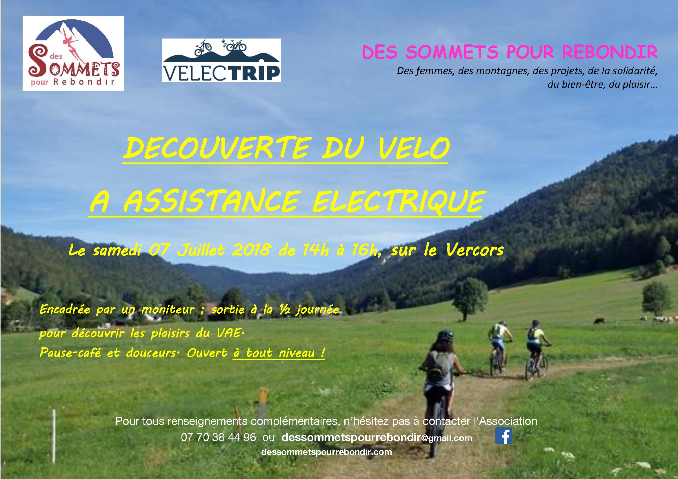 Sortie Découverte du Vélo à Assistance Electrique - Des Sommets pour Rebondir @ Dans le vercors