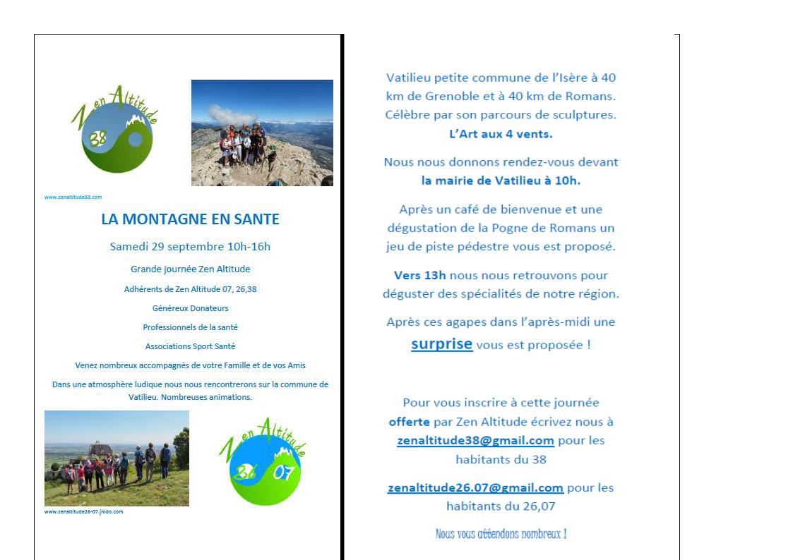 La montagne en santé @ Vatilieu