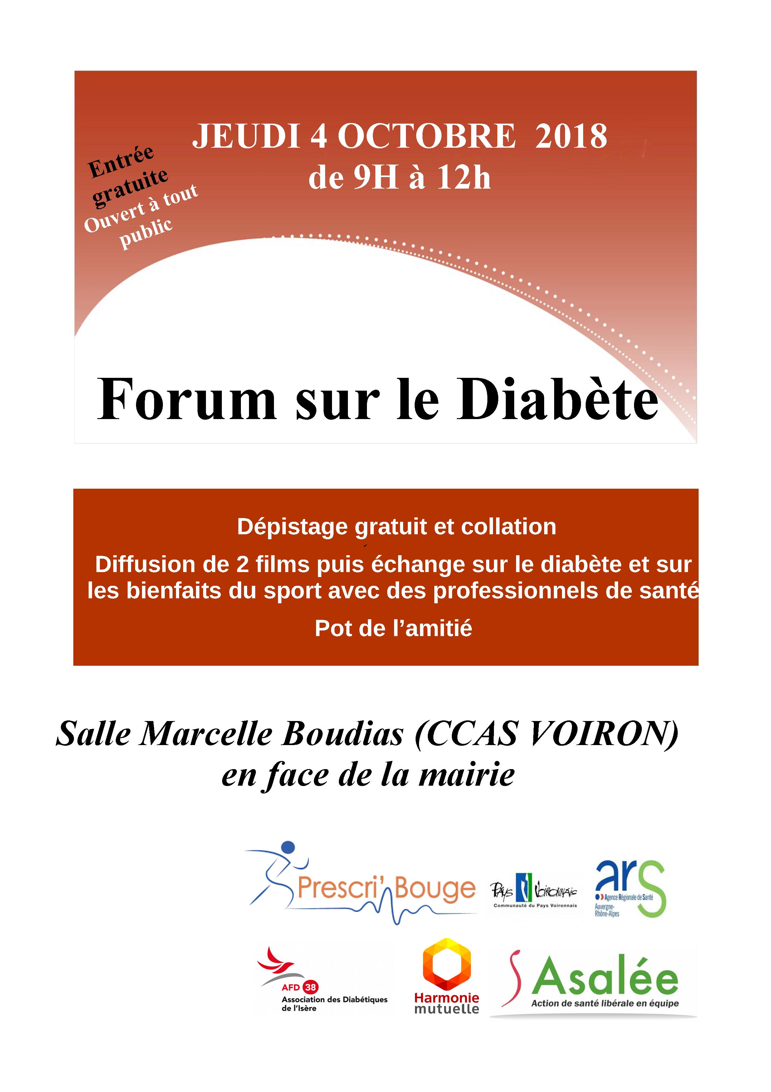 Journée sur le diabète @ Salle Marcelle Boudias (CCAS VOIRON)