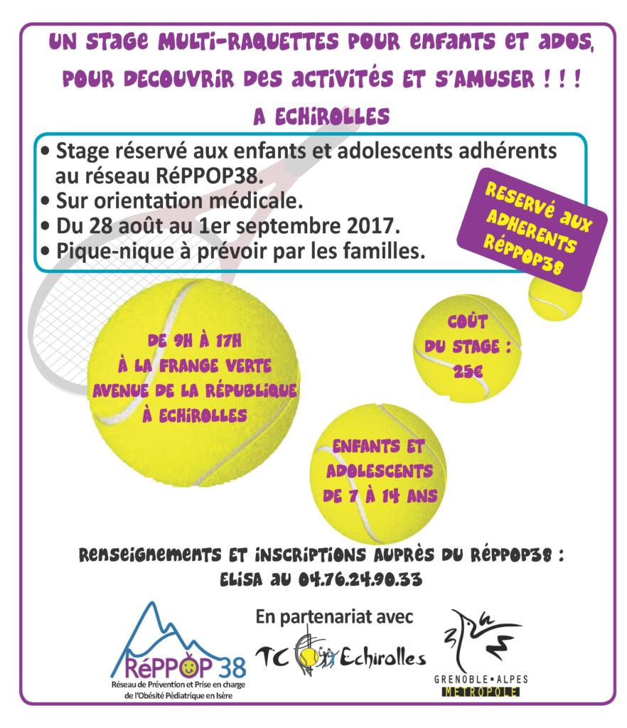 Stage multi-raquettes à Echirolles (réservé aux adhérents du REPPOP) @ Frange Verte - Echirolles